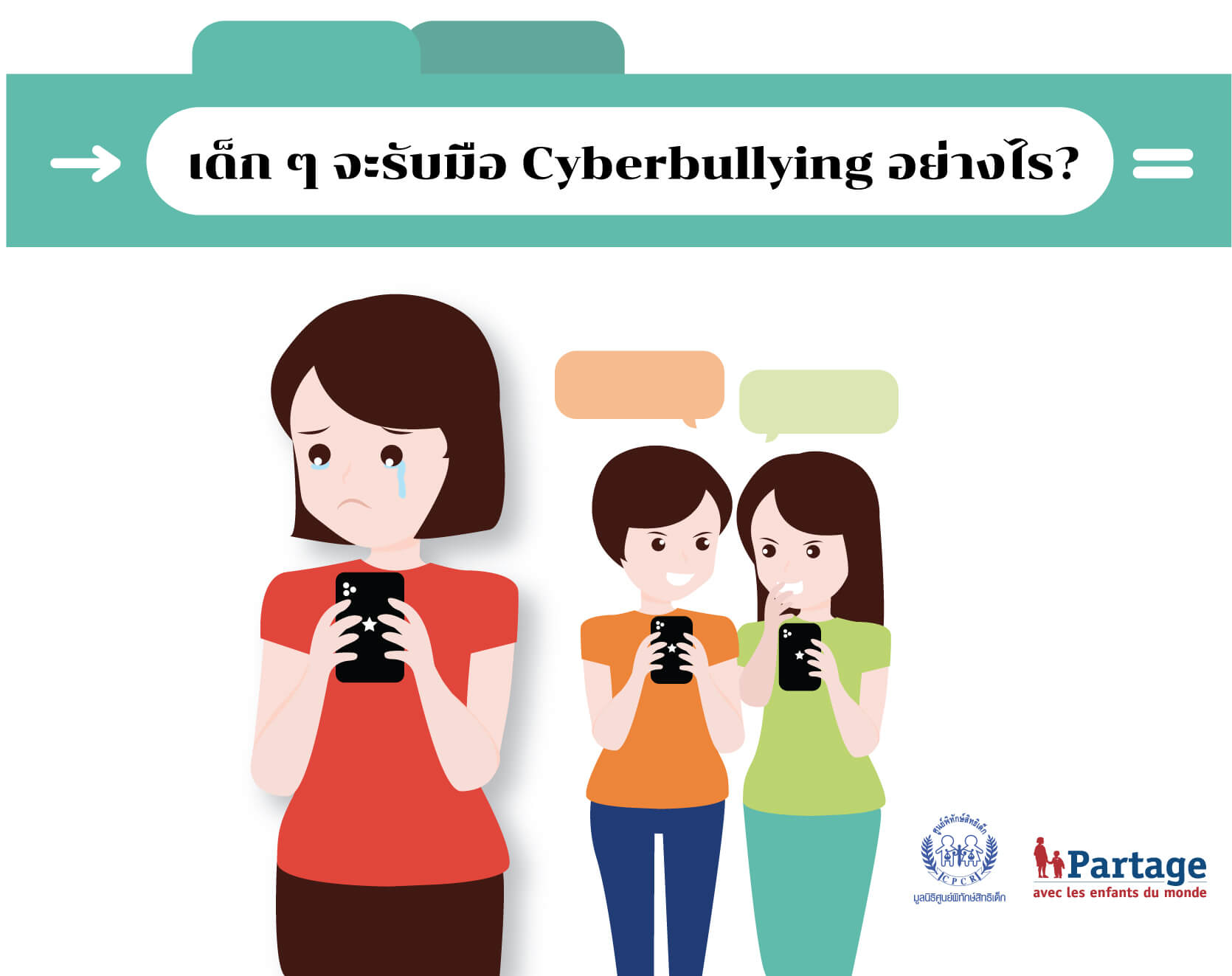 Infographic เด็ก ๆ จะรับมือ Cyberbullying อย่างไร?